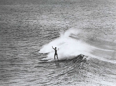 RAY LEIGHTON 1940s Australian MANLY (BEACH) SURFING photograph