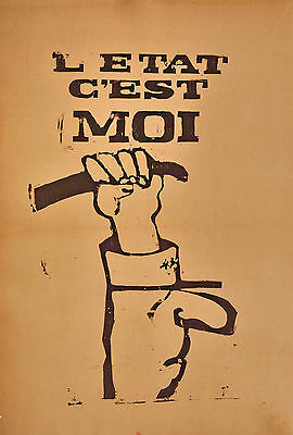 Group of MAY 1968 PARIS UPRISING Protest posters original Atelier Populaire