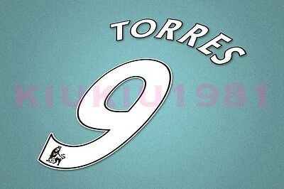 Chelsea Torres #9 PREMIER LEAGUE 07-13 White Name/Number Set