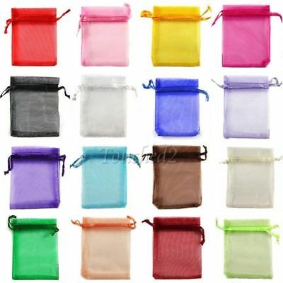 50X-400X Organza Gift Bags Mixed Pouches Wedding Favour Candy Jewelry Bags Decor