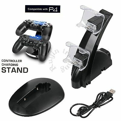Dual USB Dock Station High Speed Charging Stand for PlayStation 4 PS4 Controller