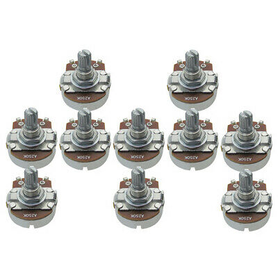 10PCS Full Size A250K 15mm Split Shaft Potentiometers Guitar Tone Pots