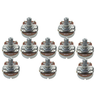 NEW 10PCS Full Size A250K Pots 15mm Split Shaft Potentiometers Guitar Tone Pots