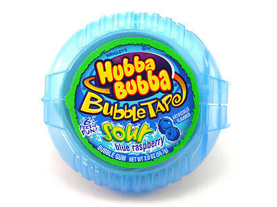 American Hubba Bubba Sour Blue Raspberry Tape Bubble Gum from American Goodies