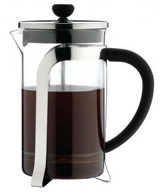 Grunwerg Cafetière French Press Coffee Maker Heat Resistant Glass Plunger Chrome