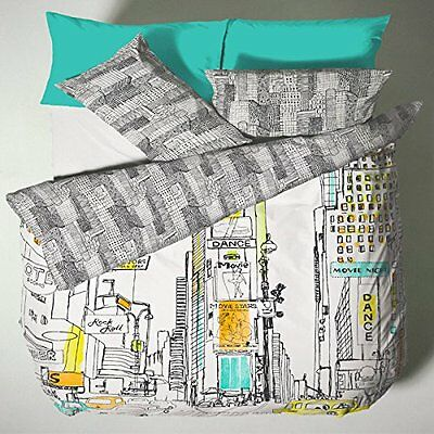 Time Square Single Duvet Cover Set