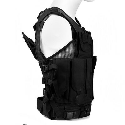 Combat Molle Military Army Airsoft Tactical Vest Black for Hunting Police SWAT