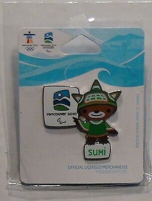 2010 Vancouver Olympic Pin: Mascot S