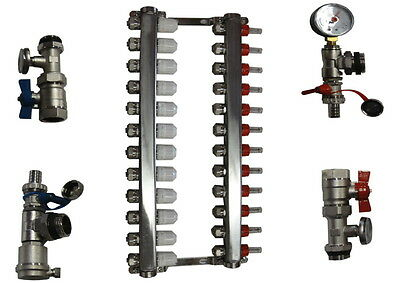 In Floor Heat Manifold 12 Loop Branch/outdoor Wood Furnace Boiler,pex Manifolds