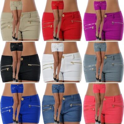 bcce4167c9 Damen Hotpants Hüft Hose Hosen Kurze Shorts Slim Stretch Capri Panty Hot  Pants