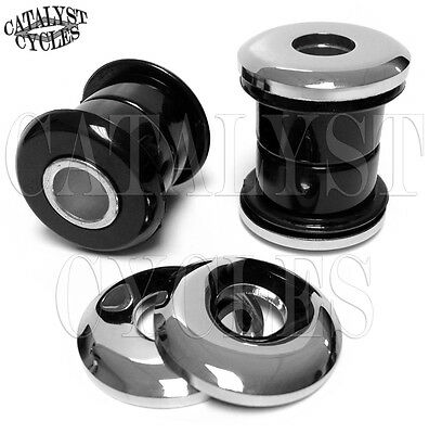 Black Polyurethane Handlebar Bushings for Harley Handlebar Riser Bushings 73-Up