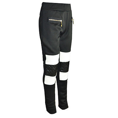 50% OFF SALE  Girls Quilted Two Tone Jeggings Leggings Pants Trouser