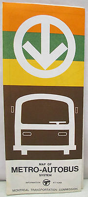 Vintage EXPO 67 Montreal Canada 1967 Map of Metro Autobus System Transportation