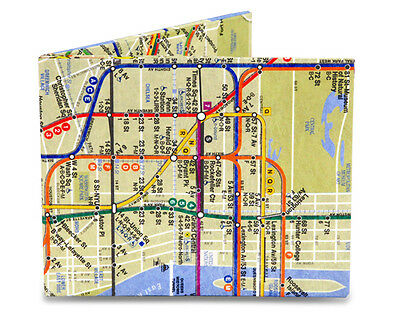 Dynomighty NYC Subway Map Thin Bifold Tyvek MIGHTY WALLET New Free Shipping
