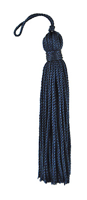 "Navy Blue 3"" Chainette Tassels Evening Sky [Set of 10]"