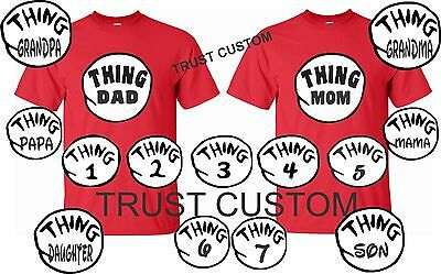 86070cd3 Thing 1 2 T-Shirts Thing Mom Dad Grandma All sizes Halloween Dr.SEUSS