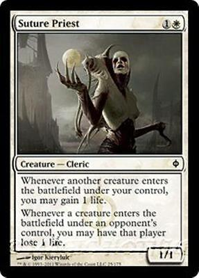 SUTURE PRIEST New Phyrexia MTG White Creature — Cleric Com