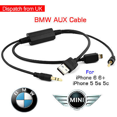 Y Cable Bmw & Mini USB AUX-In Interface Audio Adapter iPod iPhone 5 5s 6s Plus