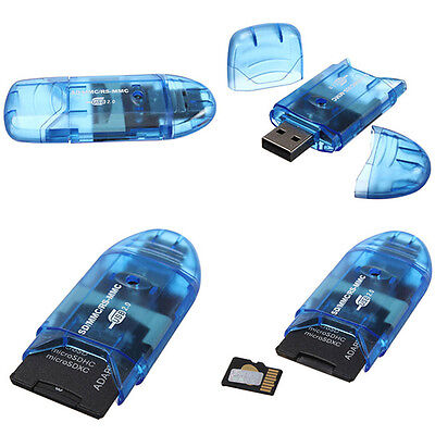 1PC USB2.0 Memory Card Reader Writer Adapter for SD MMC SDHC TF Card UP To 64GB