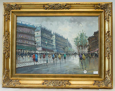Parigi/Paris, Author: Aldo Zaccardelli, epoca 900, oil on canvas