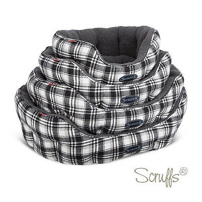 Scruffs Dog Pet Edinburgh Collection Donut Bed - Toffee & Charcoal - S,M,L & XL