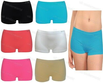 1 Ladies Seamless Boxer Shorts Boy Boxers Briefs Knickers Pants Womens Underwear