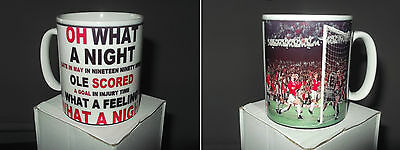 Manchester United Oh What A Night Supports Mug *great Gift* Uk Seller