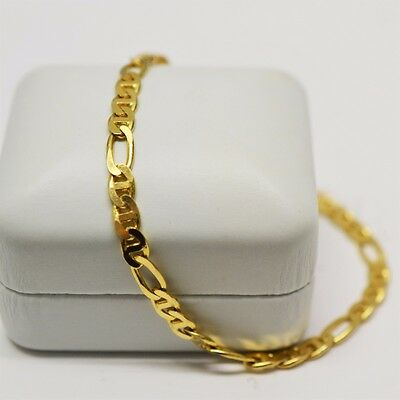 14k Yellow Gold Curb Link Chain Bracelet, Length 8 Inches