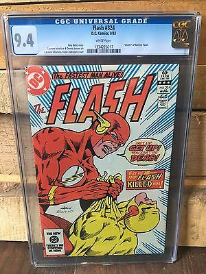 Flash #324 Cgc 9.4 Nm Death Of Reverse Flash Rodriguez Cover (Id 6816)