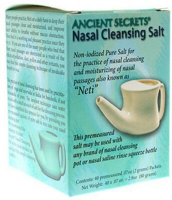 Neti Nasal Cleansing Salt Packets, Ancient Secrets, 40 piece
