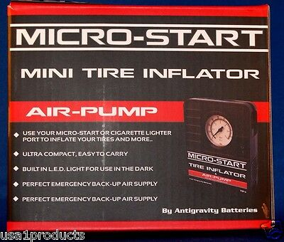 Micro-start mini tire inflator air pump antigravity batteries