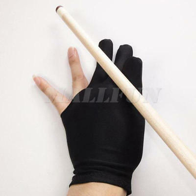 New 10 Pcs 3 Fingers Glove for Billiard Pool Snooker Table Cue Accessory Black