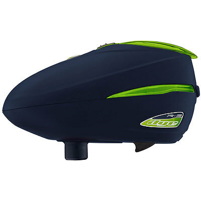 Dye Rotor R2 Electronic Paintball Loader - Navy / Lime