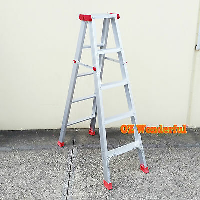 5 Step 1.5M Ladder  Aluminium Double Sided Foldable Domestic Household LADDER