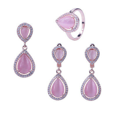 Pink Sterling Silver Jewelry Set