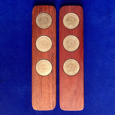 1976 Aussie Two-Up Game set w/repro Australian pennies. Original coins available