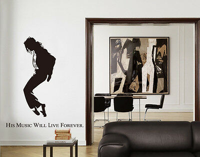 Michael Jackson Removable Wall Stickers For Decor YXH21