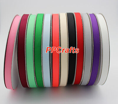 "50YDS 3/8"" 9mm Top Quality Grosgrain Ribbon - Ribbon Bows Accessories Wholesale"