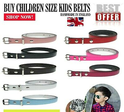 Buy Cheap 12mm Children Size Jeans Belt For Boys Girls 1/2 Inch Wide Made In UK