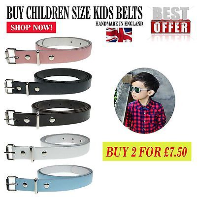 Buy Cheap 20mm Children Size Jeans Belt For Boys Girls 3/4 Inch Wide Made In UK