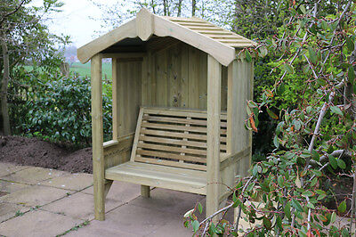 Garden Arbour Quality Wooden Garden Arbour Seat With Roof 2 Seater Arbour