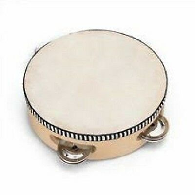 Tambourine - Music - Toy - Band - Wooden - Leather - Instrument - Hand Held