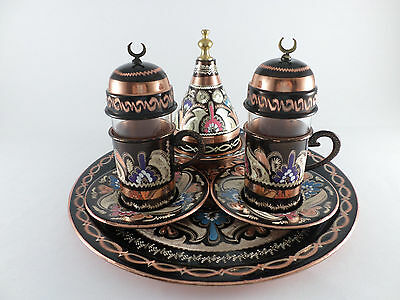Totally Handmade Copper Turkish Coffee&Espresso Serving Set VINTAGE STYLE UNIQUE