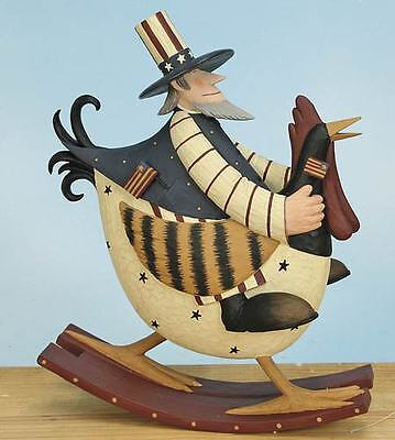 """Uncle Sam on a Rooster - Cocka-Doodle Blue"""" - Williraye - 7787"""