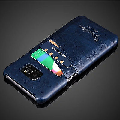 For Samsung Galaxy S7 edge Luxury Ultra-thin Slim Leather Hard Back Case Cover