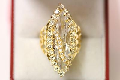 22ct/916 sparkling attractive size L 1/2  indian gold ring *Boxed*