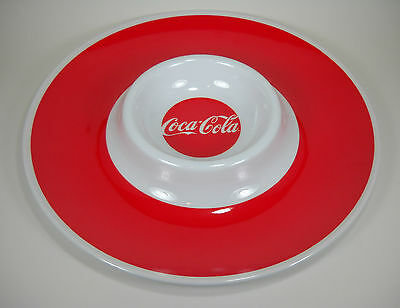 Coca-Cola Round Melamine Serving Tray with Small Center Bowl - Tin Box Company