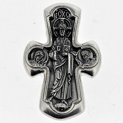 Cross Orthodox Jesus Christ & Virgin Mary # a130 Sterling Silver 925