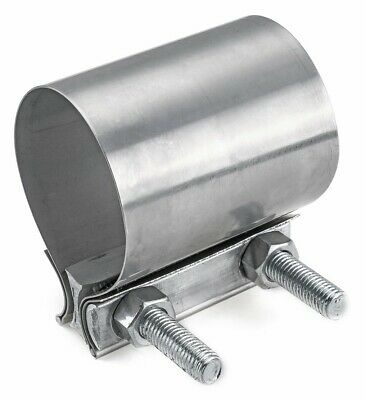 "2-1/2"" Stainless Steel Butt Joint Style Exhaust Muffler Pipe Clamp 2.5"" - JB25ST"