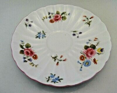 Vintage Shelley China, England Rose And Red Daisy Saucer Only